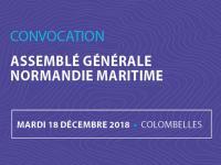 L'Assemblée Générale de Normandie Maritime se tiendra le 18 décembre 2018 à Colombelles